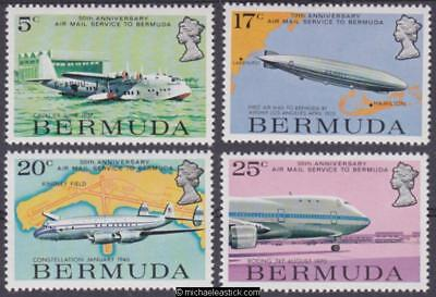 1975 Air Mail, set of 4, SG 330-3, MH