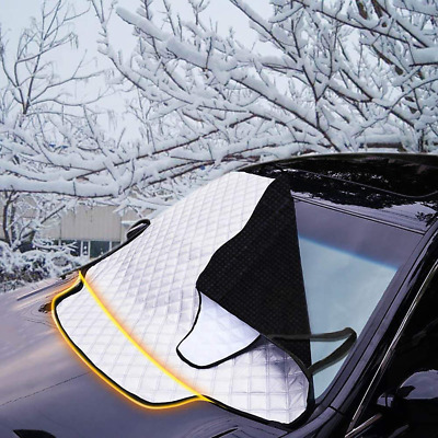 FREESOO Car Windscreen Snow Cover Windshield Frost Covers Anti Foil Ice Dust Sun