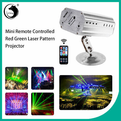 Pattern Laser Projector Stage Lights Mini LED R&G Lighting Party Disco DJ+Remote