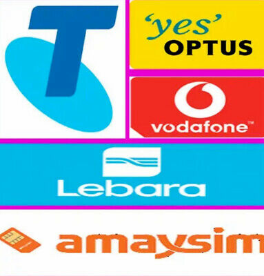 Pre-Paid Sim Cards for Vodafone, Optus ,Telstra - $10, $30, $40 and Data- MLB AU