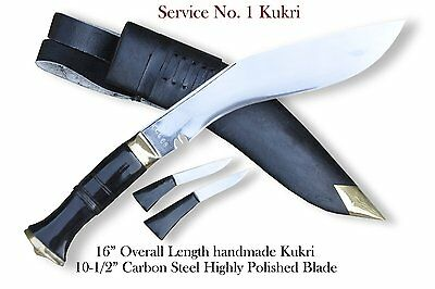 "Official issue kukri-10""Blade Service no 1 kukri,Gurkha knive,military kukri"