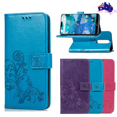Classic Wallet PU Leather Flip Case Stand Cover Pouch For Nokia 2.1 3.1 6.1 7.1