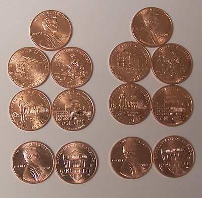 2009 / 2010 Uncirculated Lincoln Cent Set P & D - 10 Coin Set