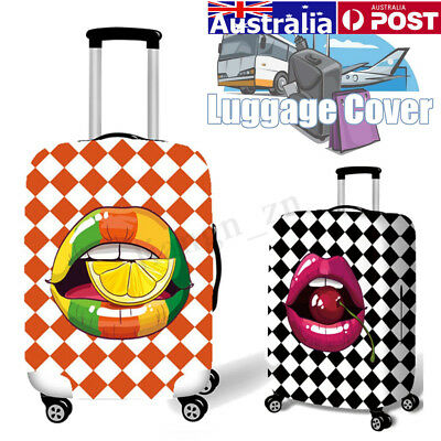 AU Tongue Elastic Luggage Cover Travel Suitcase Dustproof Protector Bag 18-32""