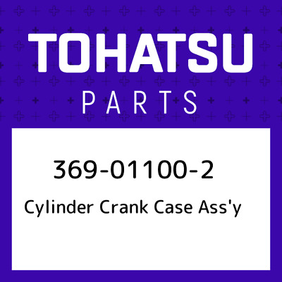 369-01100-2 Tohatsu Cylinder crank case ass'y 369011002, New Genuine OEM Pa