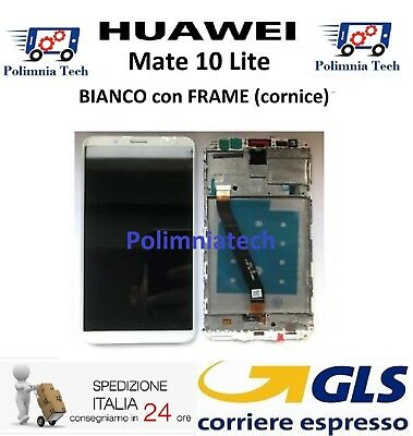 DISPLAY HUAWEI MATE 10 Lite BIANCO FRAME (cornice) DISPLAY LCD TOUCH  - GLS 24h