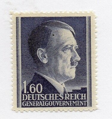 German Occupation of Poland 1941 Hitler . Issue Fine Mint Hinged 1.60z. 297164