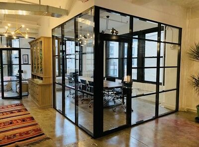 CGP Aluminum & Glass Conference Room 5' x 8' Black Color