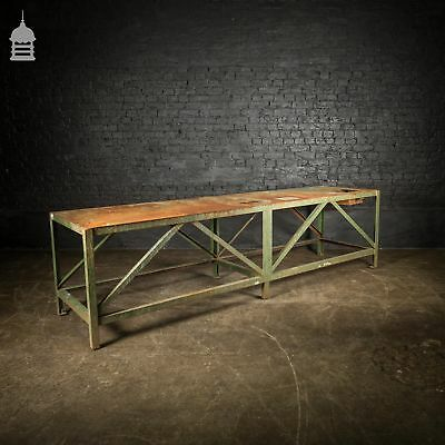 Large Industrial Steel Workshop Machinists Bench
