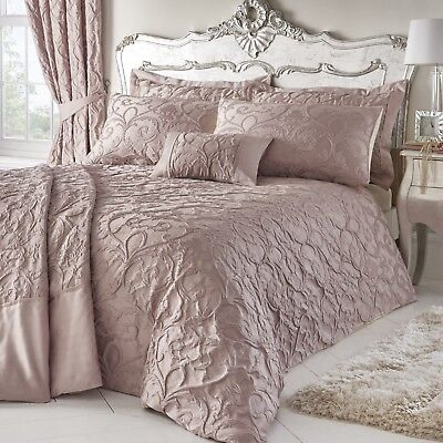 Bentley Blush Pink,Luxury Woven Jacquard Bed Linen-Duvet Cover And Pillow Cases