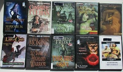 Fantasy Science Fiction Lot MP3 CD 10 Audiobooks Hamilton Liu Feehan Mills Frost
