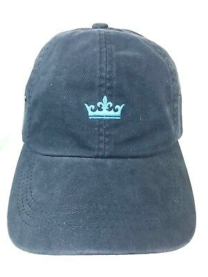Peter Millar Crown Golf Hat Cap Mens Blue Logo Strapback Adjustable Cotton 4bbc1e1e723c