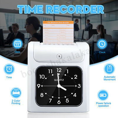 Electronic Employee Time Attendance Time Clock Recorder Bundy MusicRing 50