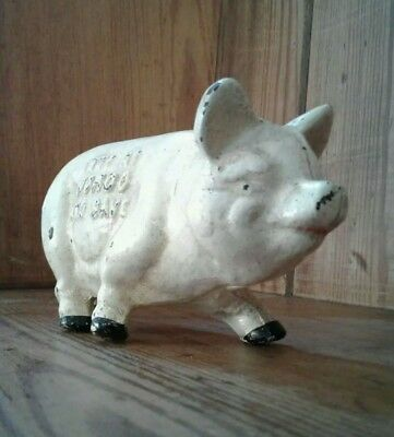 Small cast iron piggy bank by Norco Foundry, Pottstown, USA.
