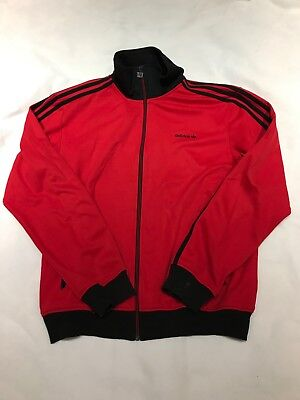 MENS RETRO VINTAGE 90'S Adidas Originals Jacket Red Black