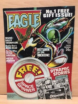EAGLE Comic - No 1 - Date 27th March 1982 With NO Space Spinner - Vintage Comic