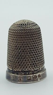 Sterling Silver Antique No. 11 Thimble Chester Hallmarked HW 1892