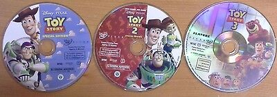 DVD Lot TOY STORY 1 2 3 Trilogy ~ Authentic ~ Disney *DISCS ONLY* ~ Look $0 S/H