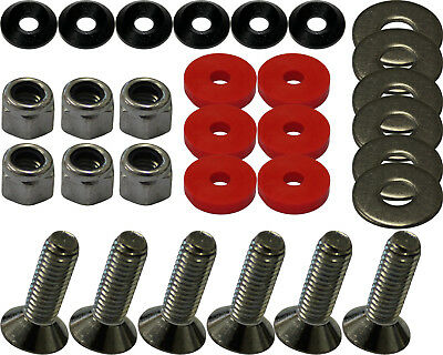 FLOOR TRAY FITTING KIT WITH BLUE ALLOY CSK & RED RUBBER WASHERS Go Kart