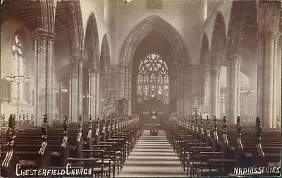 real photo; chesterfield church; Chas H  nadin;