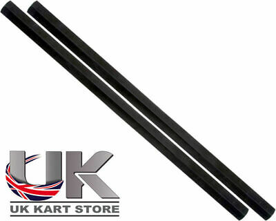 Track / Tie Rod 280mm x M8 Hex Black x 2 Go Kart Karting Race Racing