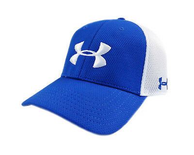 5a4cf05aff1 NEW Under Armour Golf Spacer Mesh Royal Blue White Mens Fitted L XL Hat