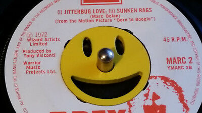 Stainless steel emoticon 45 rpm adapter,  **SLIGHT PAINT DEFECTS**(Hence price)