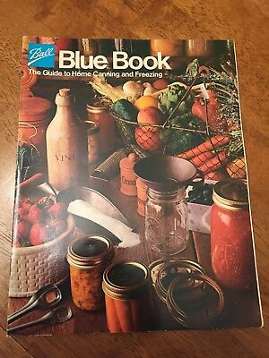 Ball Blue Book Guide To Home Canning and Freezing 1983 Paperback
