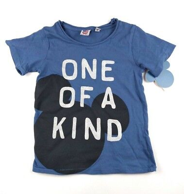 Disney Mickey Mouse Boys Toddler Junk Food One of a Kind Blue T-Shirt Size 3T