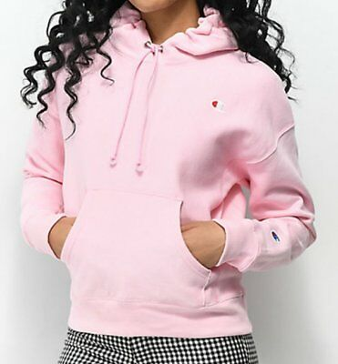 13efb1e90 New Champion Reverse Weave Candy Pink Logo Patch Hoodie Sweatshirt Top Size  Xs