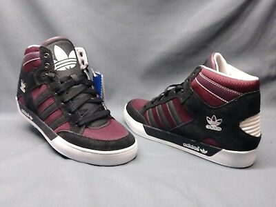 pretty nice 2d43b 714f7 Adidas Mens Hard Court Hi Retro Casual Sneakers Black Maroon Camo Size 10  NWOB!