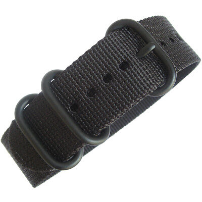 22mm deBeer Black Ballistic Nylon PVD BUCKLE UTC Military Dive Watch Band Strap