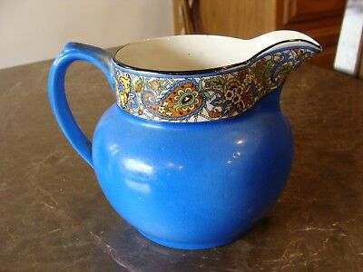 Vintage Antique Wade Chintz Milk Pitcher Paisley Design Banded England