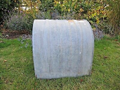 Unusual Vintage Galvanised Swift Chicken Coop Garden Planter (837)