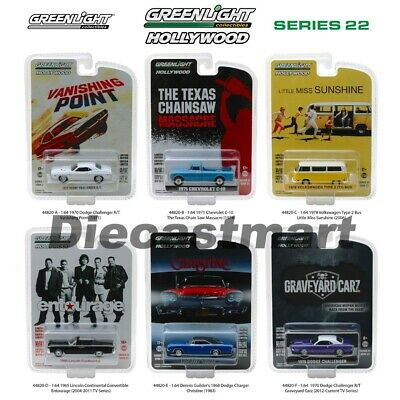 Greenlight 1:64 Hollywood Series 22 Set of 6 Diecast Dodge Ford Chevy VW 44820