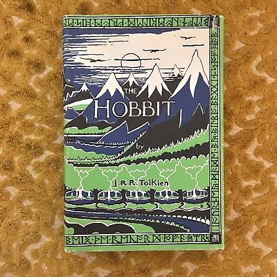 THE HOBBIT by J.R.R. Tolkien HC DJ 1966 28th Printing USA Book Illustrated
