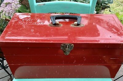 Vintage INDUSTRIAL RETRO RED Rota Rangex CANTALEVER TOOLBOX 46.5 CM LARGE