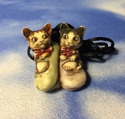"RARE NEW Harmony Kingdom ""2003 Artist Tour Pendant"" Kittens XXYEVHOL03 SIGNED"