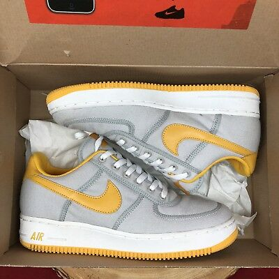 official photos c0085 a3264 Nike Air Force One Canvas Low Neutral Grey Yellow Size 10 Travis Scott  Jordan I