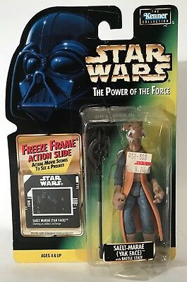 "Star Wars POTF Saelt-Marae Yak Face Battle Staff 3.75"" Figure 1997 Collection 2"