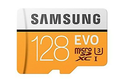 Official Samsung microSD Evo, 128GB, Class 10 48MB/s Memory Card With Adapter -