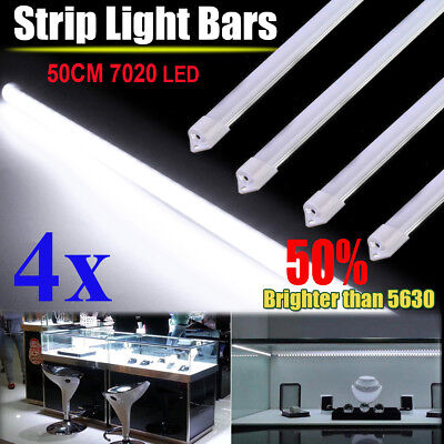 4X12V Waterproof Cool White 7020 Led Strip Light Bar Camping Caravan Boat Car