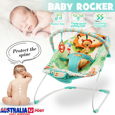 Electric Baby Infant Rocker Bouncer Newborn Toddler Swing Reclining Chair W/ Toy