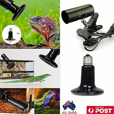 AU Ceramic Lamp Holder + Heat Emitter Set Pet Reptile Snake Heating Bird Brooder