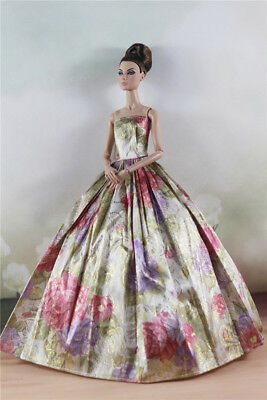 Fashion Royalty Flower  Evening Dress Ball Gown For 11.5 inch Doll