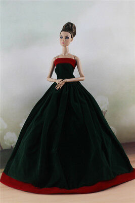 Fashion Royalty Dark Green Party Dress Ball Gown For 11.5 inch Doll