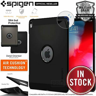 For Apple iPad Pro 12.9 11 inch 2018 Case, Genuine SPIGEN Tough Armor Hard Cover