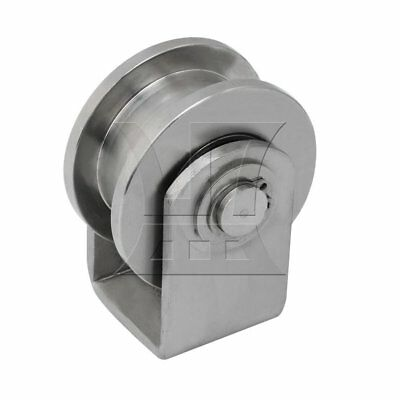 H Type Rail Roller Fixed Pulley Stainless Steel Gate Roller H Groove M Size