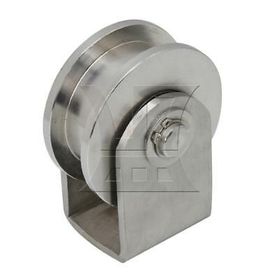 7.3x9.5x5.5cm H Type Rail Roller Fixed Pulley Roller H Groove Large Size