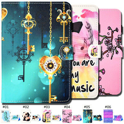 PU Leather Fashion Flip Stand Tablet Smart Wake/Sleep Case Cover For Samsung